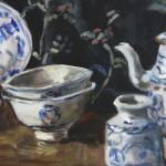 Chineze blauwe kommetjes
